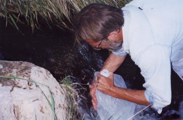 George takes a sample of water