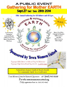 2014 Gathering for Mother Earth flyer